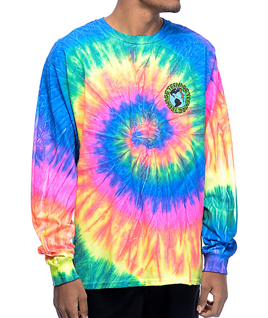 Super Teenage Madness Multi Tie Dye Long Sleeve T-Shirt   Zumiez HT12