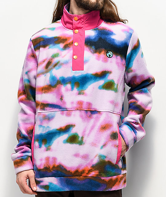 Teenage Tie Dye Tech Fleece Jacket