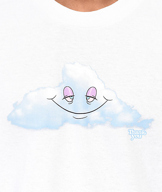 Thank You Head In The Clouds camiseta blanca
