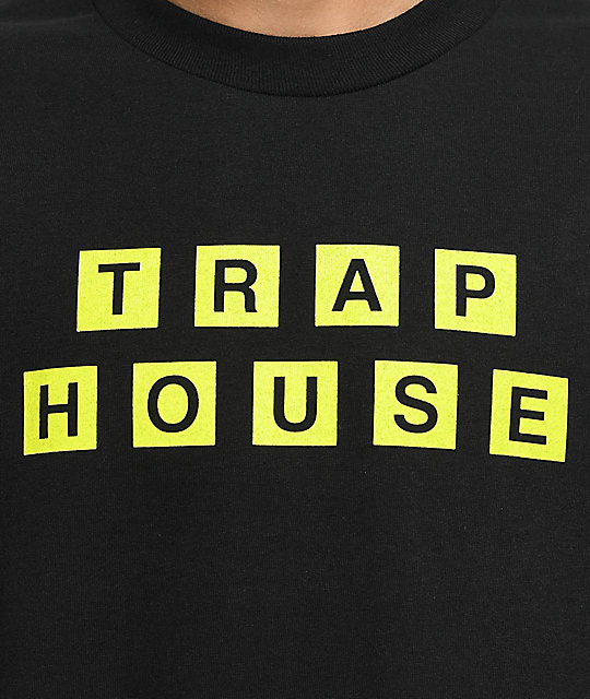 The Artist Collective Trap House Waffles camiseta negra de manga larga