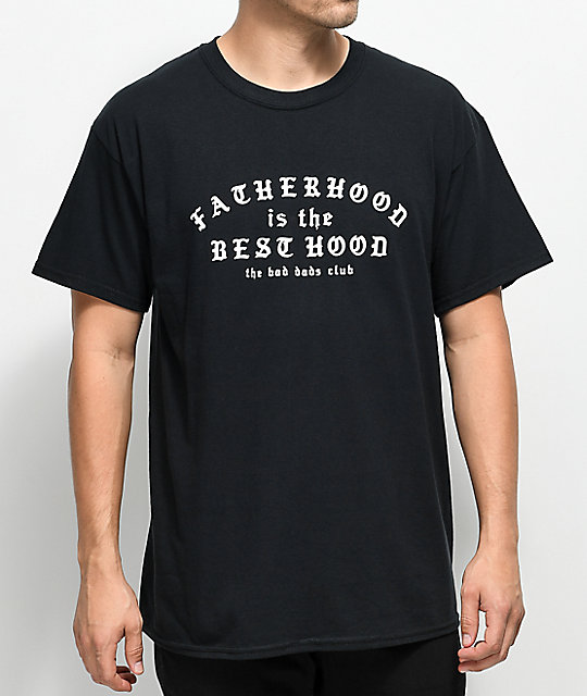 6616e910 The Bad Dads Club Fatherhood Black T-Shirt | Zumiez
