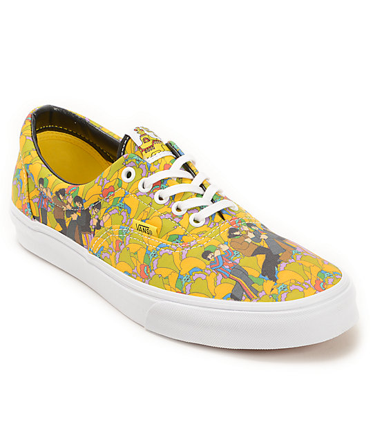 af9e6fe3ab The Beatles X Vans Era Yellow Submarine The Garden Skate Shoes