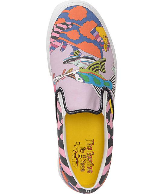 af17681407 ... The Beatles X Vans Slip On Yellow Submarine Sea of Monsters Skate Shoes  ...