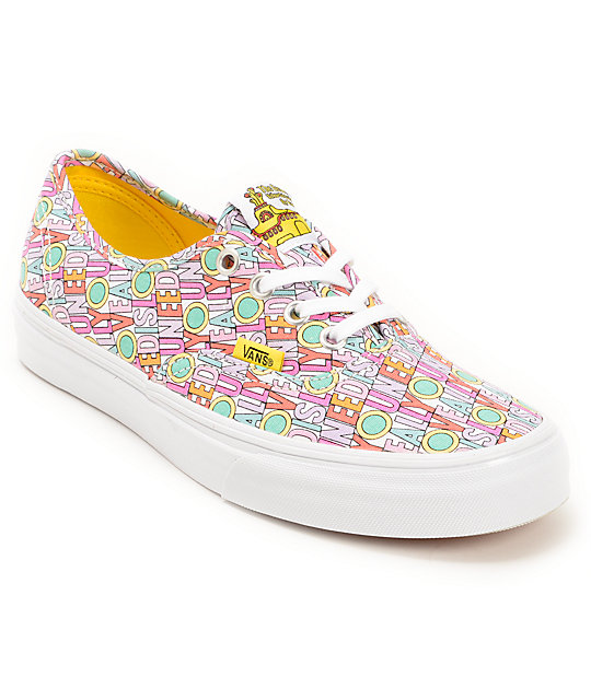 6f24b40710 The Beatles x Vans Authentic Yellow Submarine Shoes