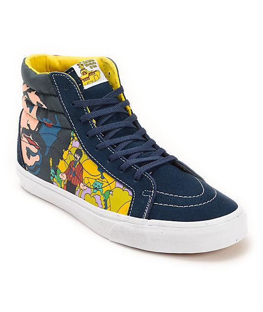 The Beatles x Vans Sk8 Hi Garden Skate Shoes