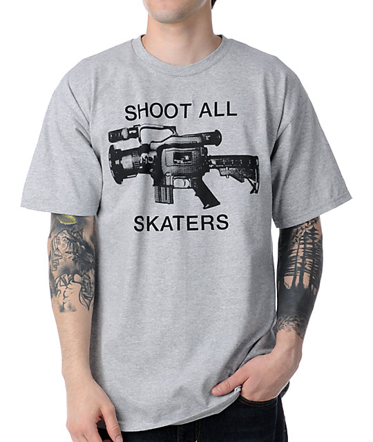 The Berrics Shoot All Skaters Grey T-Shirt
