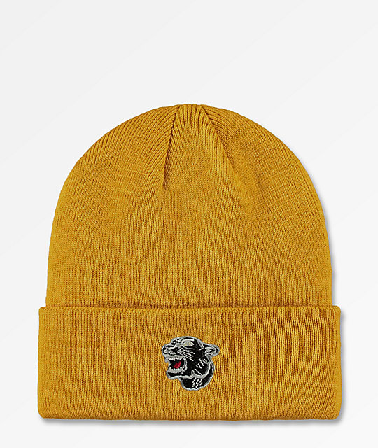 d60ddaf1e4c The Forecast Agency Panther Mustard Beanie
