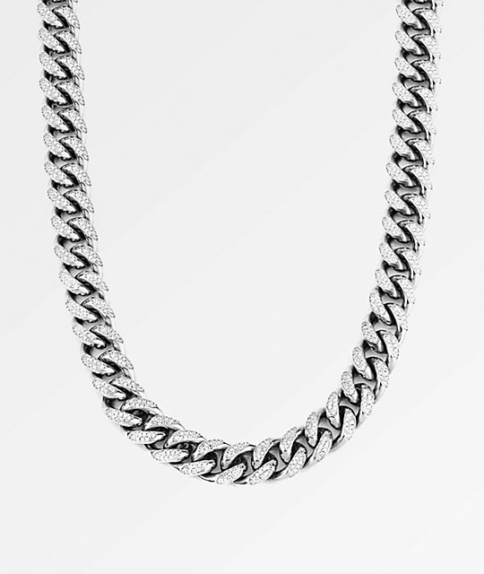 The Gold Gods 10MM Diamond Cuban Link White Gold Chain Necklace