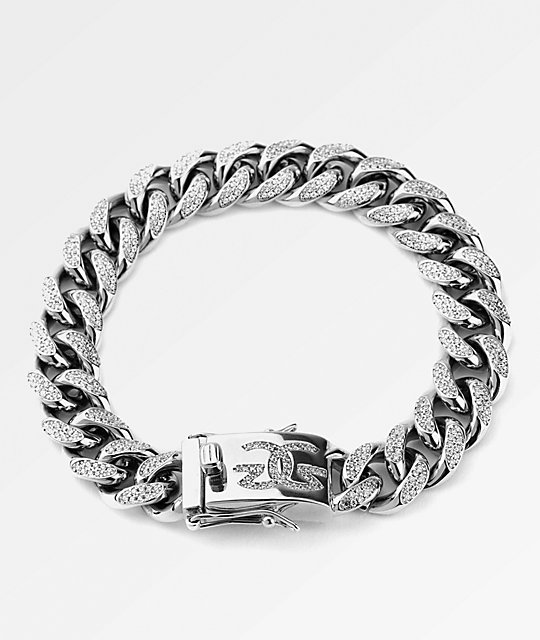The Gold Gods 10mm Cuban White Gold Bracelet