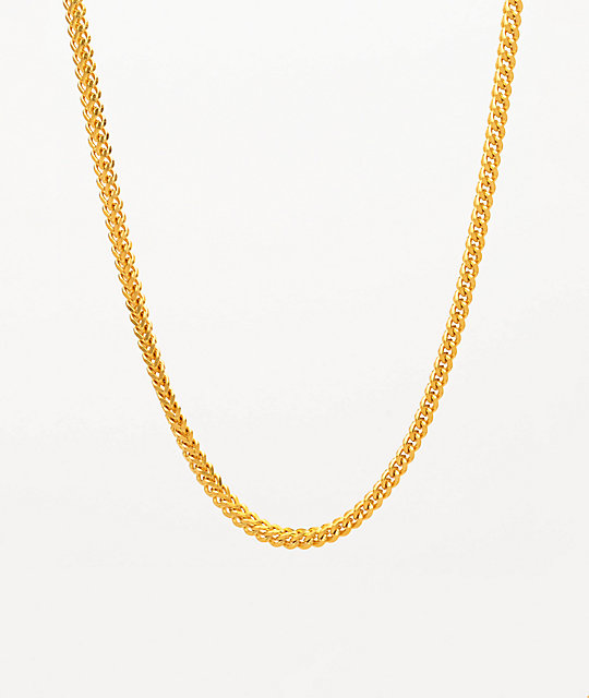 The Gold Gods 22 Yellow Gold Franco Box Chain Necklace Zumiez