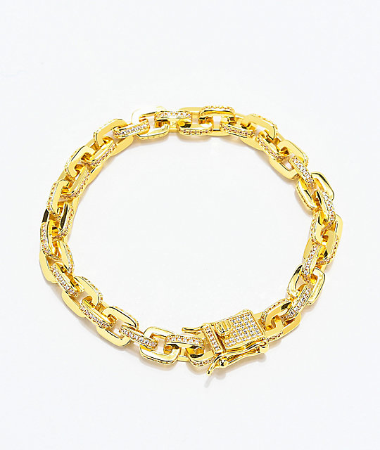 The Gold Gods 5mm Hermes Link pulsera de cadena de oro