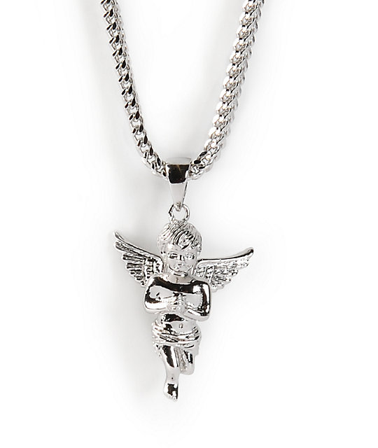 The gold gods angel white gold necklace zumiez the gold gods angel white gold necklace aloadofball Image collections