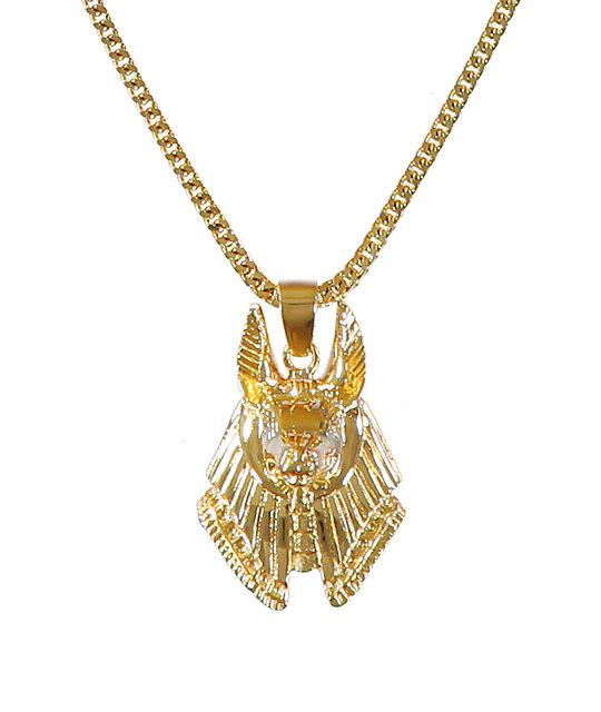 The gold gods anubis piece necklace zumiez the gold gods anubis piece necklace aloadofball Images