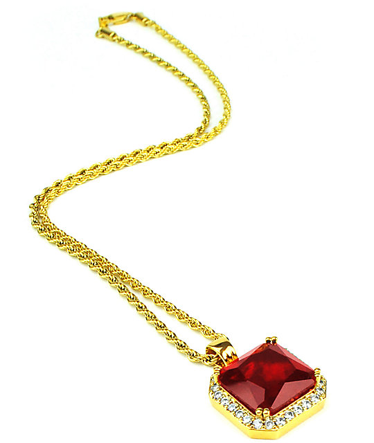 The gold gods aura ruby pendant necklace zumiez the gold gods aura ruby pendant necklace aloadofball Image collections