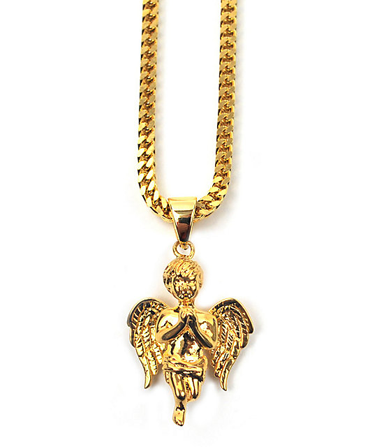 The Gold Gods Fallen Angel Necklace