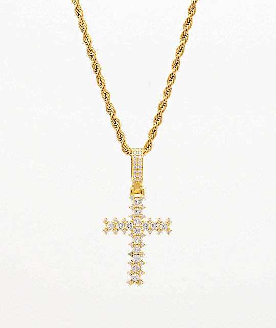 The Gold Gods Flooded Diamond Cross 22