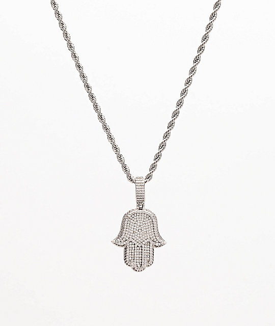 The Gold Gods Hamsa Hand Micro Diamond 22