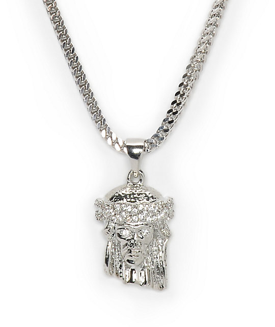 The gold gods jesus white gold necklace zumiez the gold gods jesus white gold necklace aloadofball Image collections