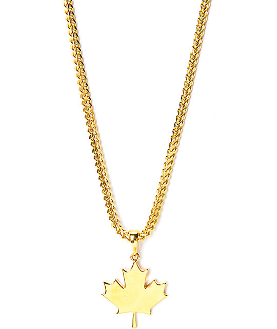 The gold gods maple leaf gold necklace zumiez the gold gods maple leaf gold necklace aloadofball Gallery