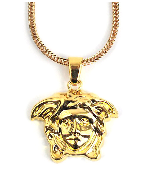 The Gold Gods Medusa Head Gold Necklace | Zumiez.ca