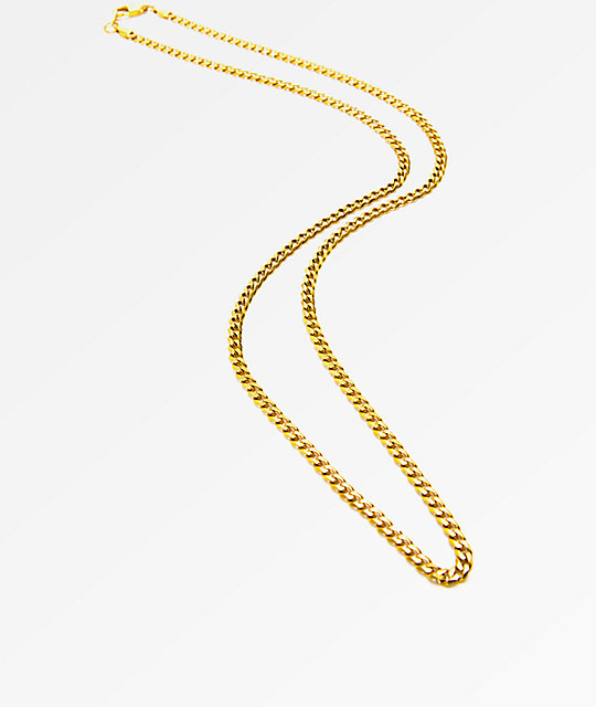 "The Gold Gods Micro Cuban 28""  Necklace"