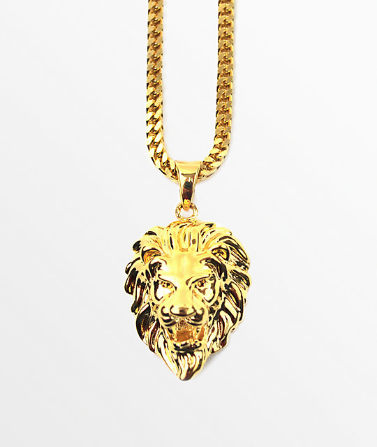 The gold gods micro lion pendant necklace zumiez the gold gods micro lion pendant necklace aloadofball Choice Image