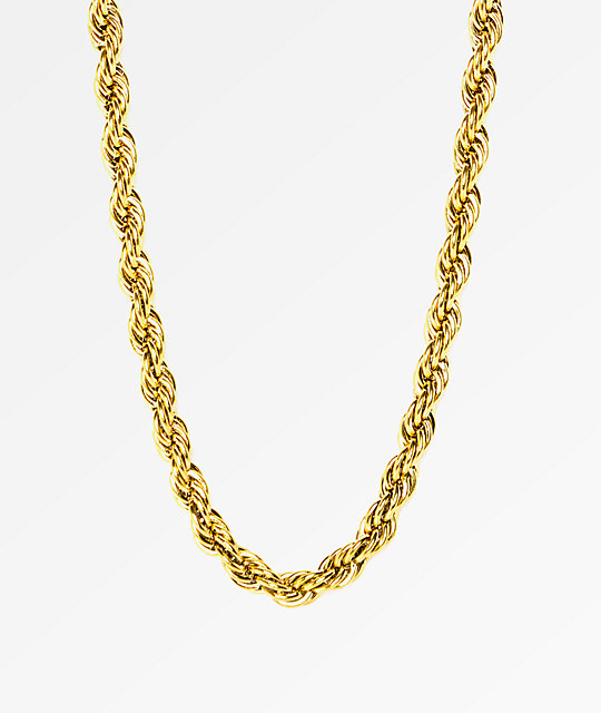 The Gold Gods Rope Chain 28 Quot Necklace Zumiez