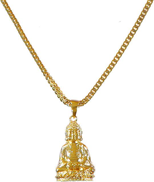 The gold gods sitting buddha piece necklace zumiez the gold gods sitting buddha piece necklace mozeypictures Images
