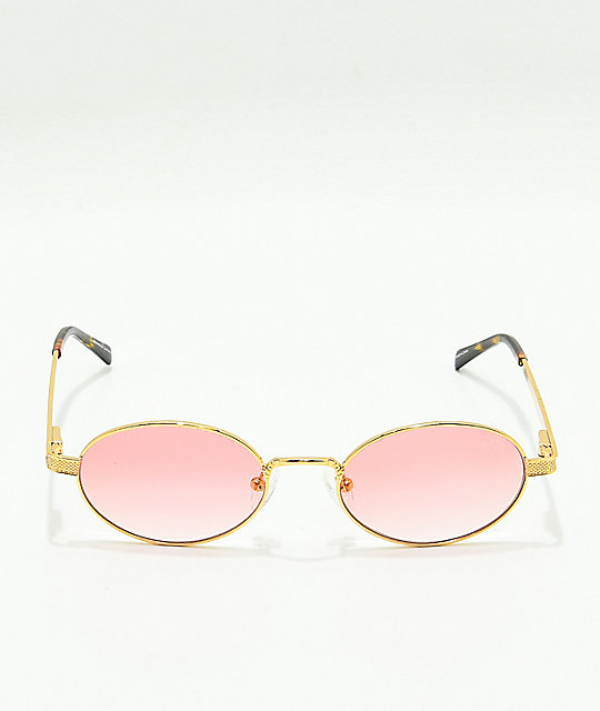 The Gold Gods The Ares Gold & Red Gradient Sunglasses