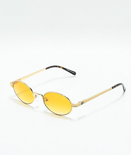 The Gold Gods The Ares gafas de sol de oro con gradiente naranja