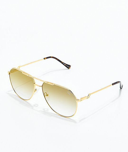 The Gold Gods The Escobar Brown Gradient Sunglasses