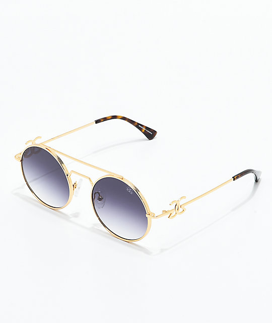 459b4d41f62 The Gold Gods The Visionaries Black Gradient Sunglasses