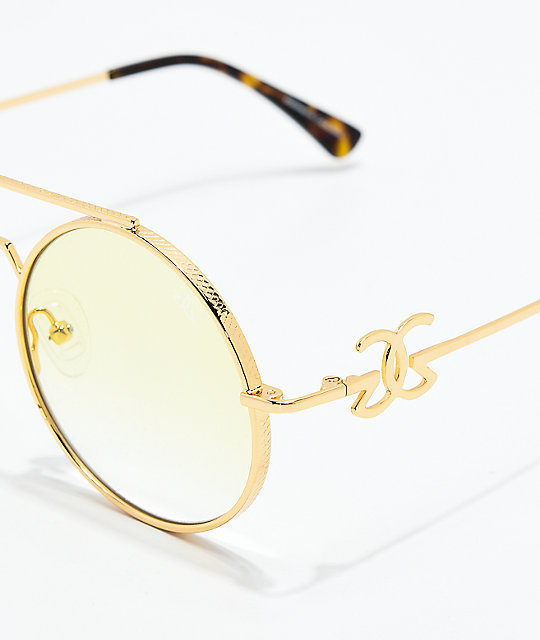 The Gold Gods Visionaries gafas de sol amarillas de oro