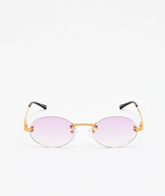 The Gold Gods x Fabolous Helios Pink & Gold Sunglasses