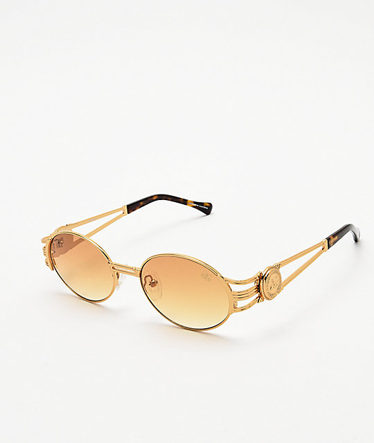 The Gold Gods x Fabolous gafas de sol anaranjadas