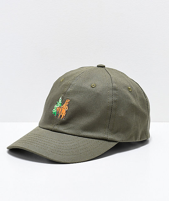The Great PNW Woodsy Grey Strapback Hat