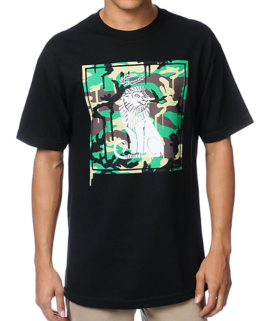 The Gro Project Camo Lion Black T-Shirt
