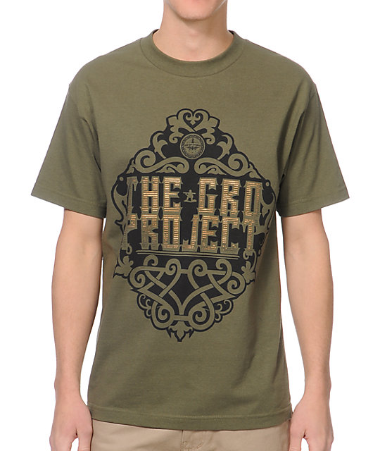 The Gro Project Nouveau Dark Green T-Shirt