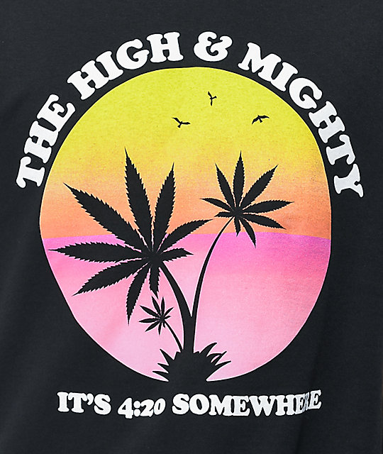 The High & Mighty Permanent Vacation Black T-Shirt