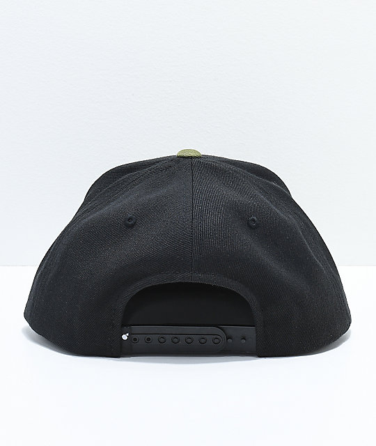 The Hundreds Adam Black & Olive Snapback Hat