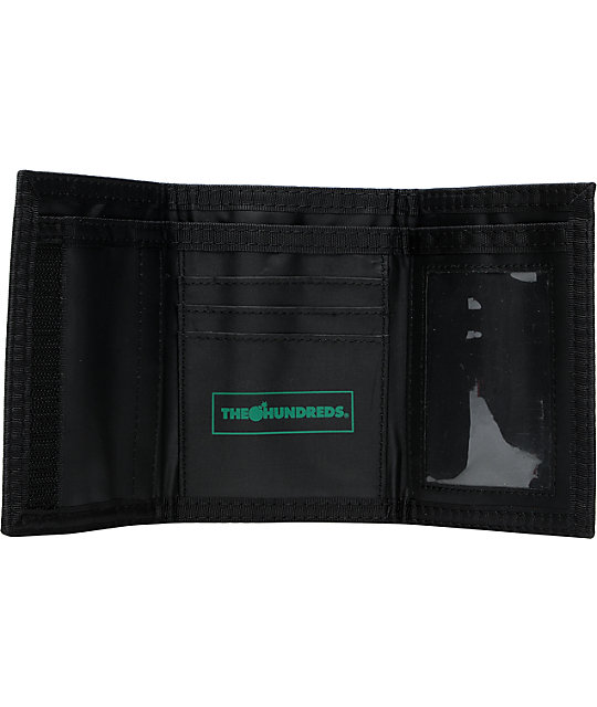 The Hundreds Adam Black Tri-Fold Wallet