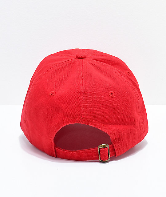 ... The Hundreds Adam Red Dad Hat bdb61c8375b