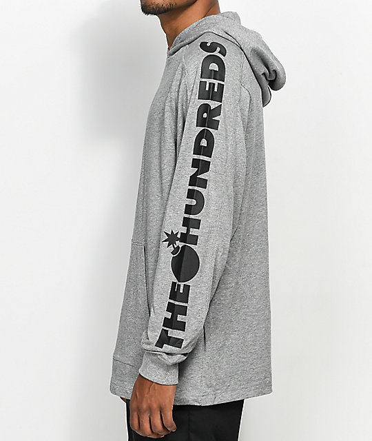 The Hundreds Alpha sudadera con capucha en gris jaspeado