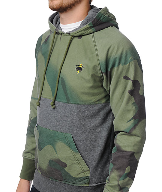 The Hundreds Among Us Camo & Charcoal Pullover Hoodie