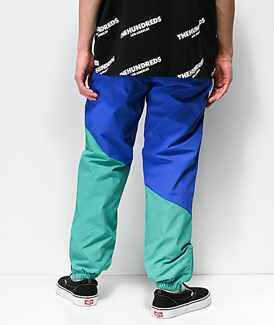 The Hundreds Angles Blue & Green Nylon Track Pants