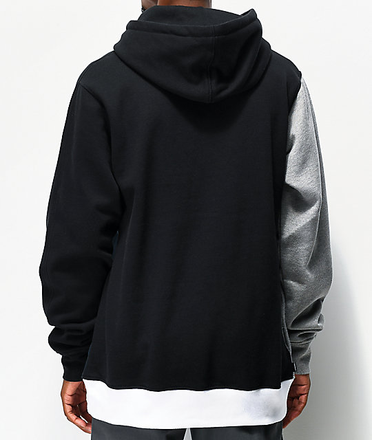 The Hundreds Barter Black Colorblock Hoodie