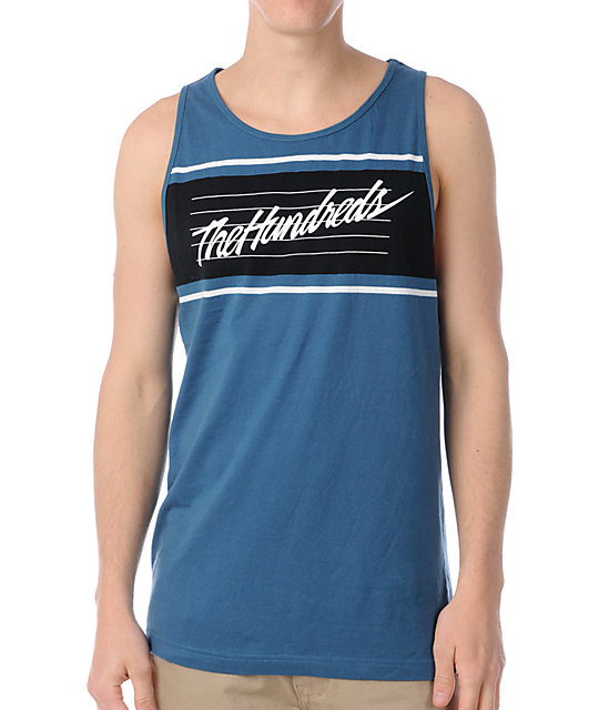 The Hundreds Bend Navy Tank Top