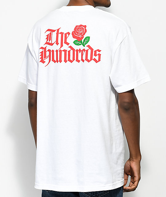 The Hundreds Big Rose camiseta blanca