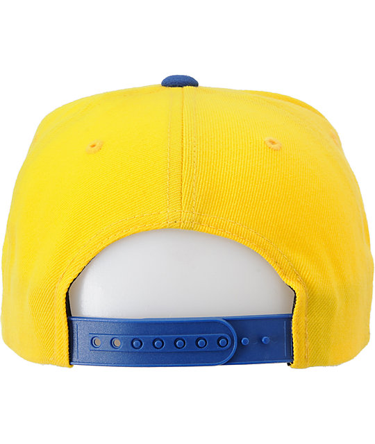 The Hundreds Blinds Blue & Yellow Snapback Hat