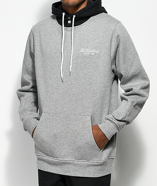 f32172c36d The Hundreds Bower Pullover Athletic Heather Grey Hoodie